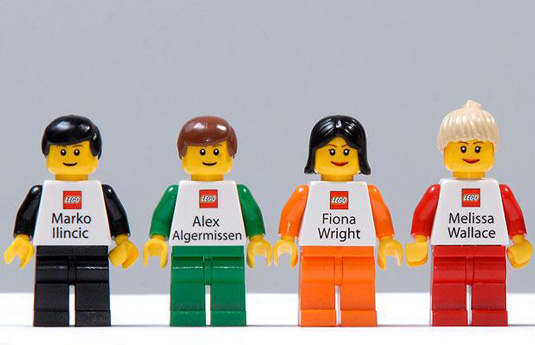 Business cards: Lego