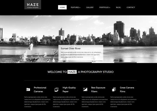 Portfolio WordPress theme - Haze
