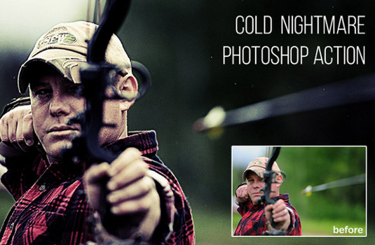 Free Photoshop actions: Cold Nightmare