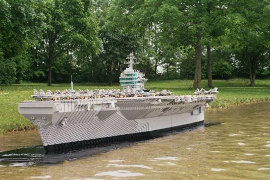 Lego art: aircraft carrier