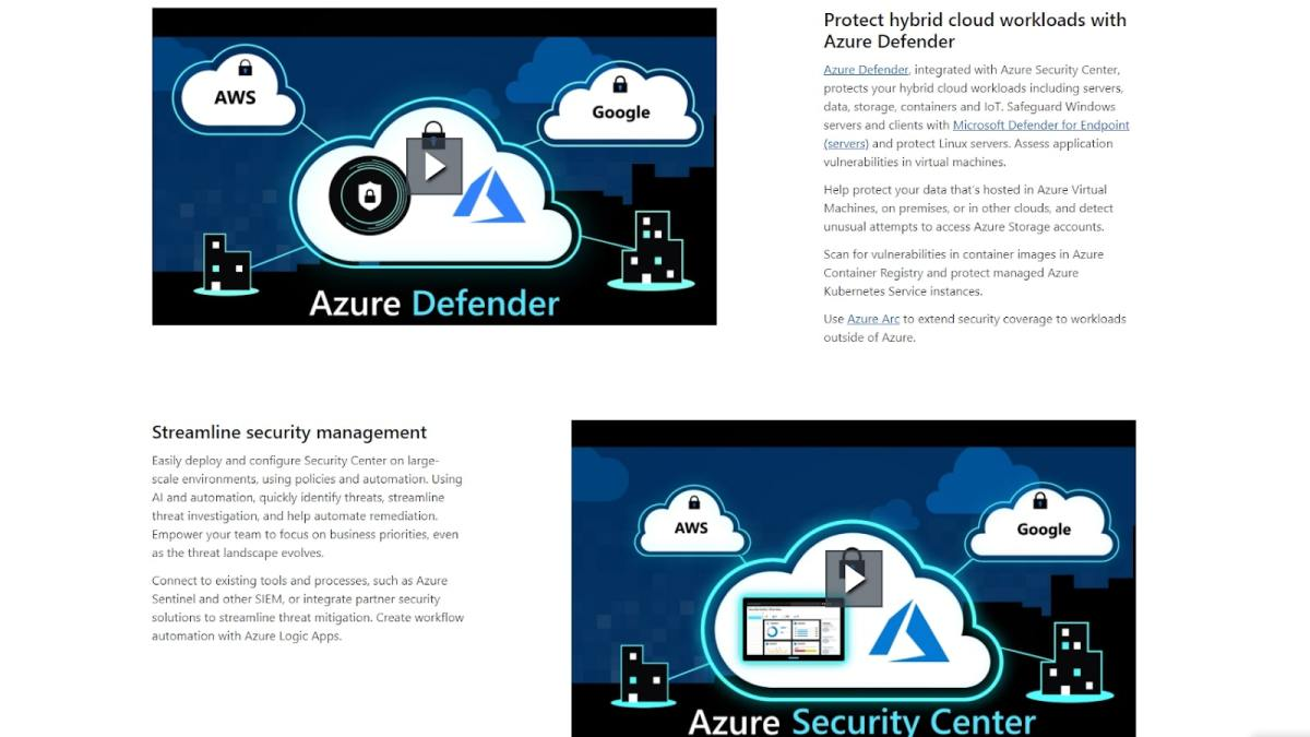 Microsoft Azure's data security features