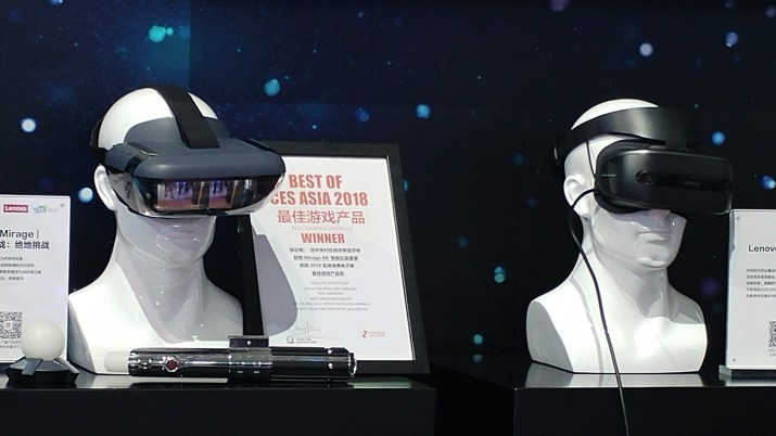 VR headsets at CES Asia 2018
