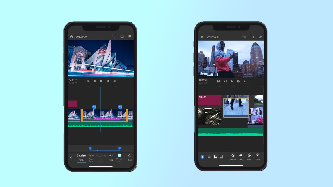 best video editing apps: Adobe Premiere Rush
