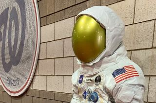 Smithsonian Unveils Statue of Neil Armstrong's Spacesuit ...
