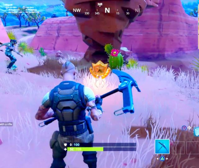 Search Between An Oasis Rock Archway And Dinosaurs Fortnite Season  Challenge Gamesradar