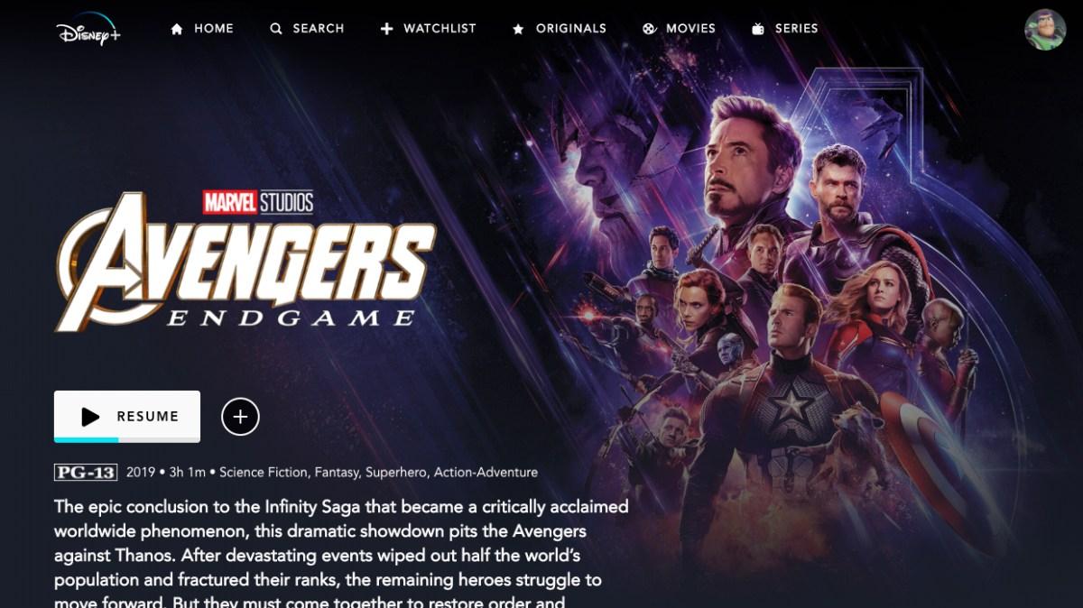 Disney Plus review: Avengers Endgame
