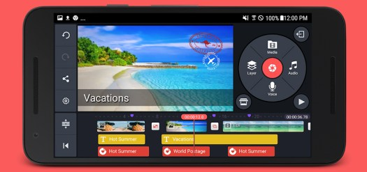 Best video editing apps: Kinemaster Pro on smartphone