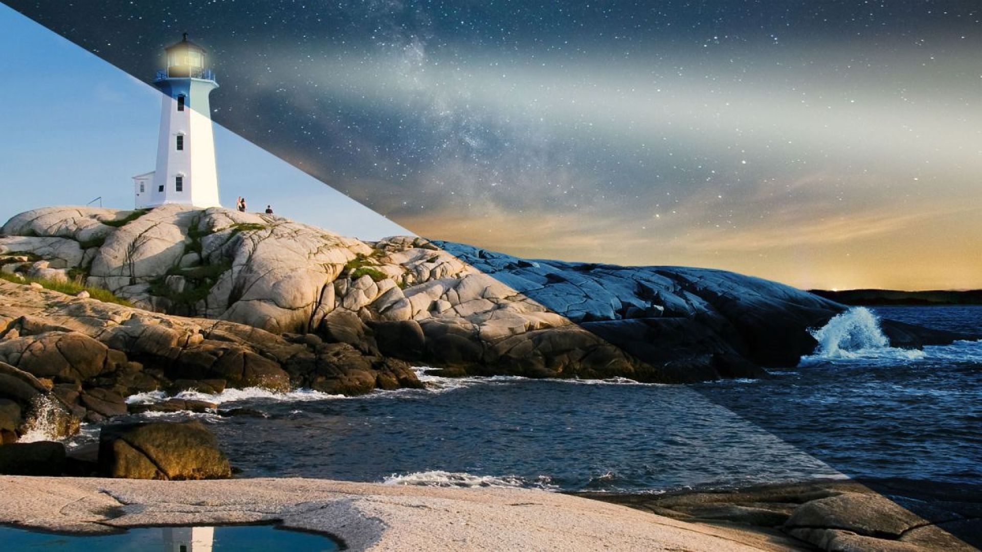 How to turn day into night in Photoshop