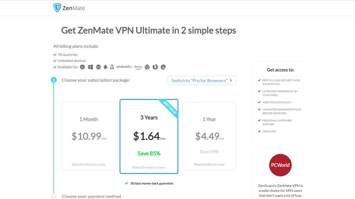 ZenMate review - pricing