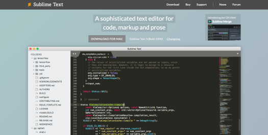 best code editors: Sublime Text 3