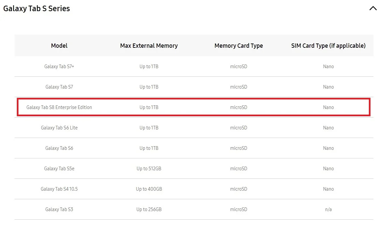 galaxy tab s8 enterprise edition screenshot