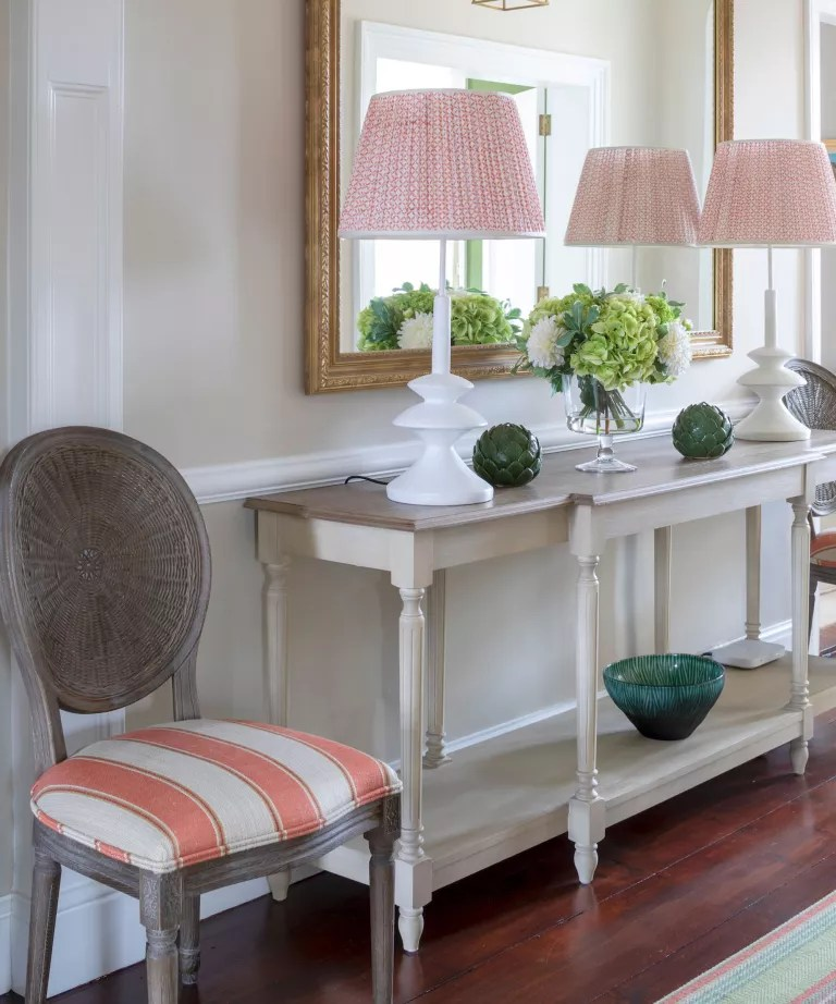 Hallway with console table