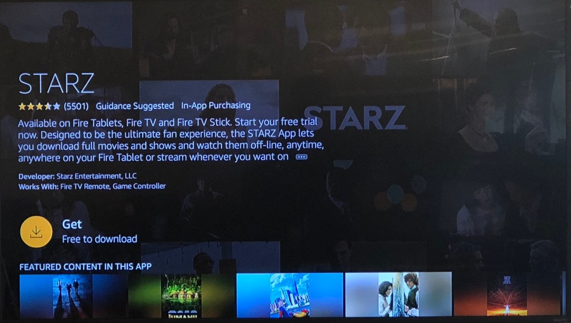 how to use fire stick - Starz