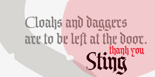 Old English fonts: P22 Sting