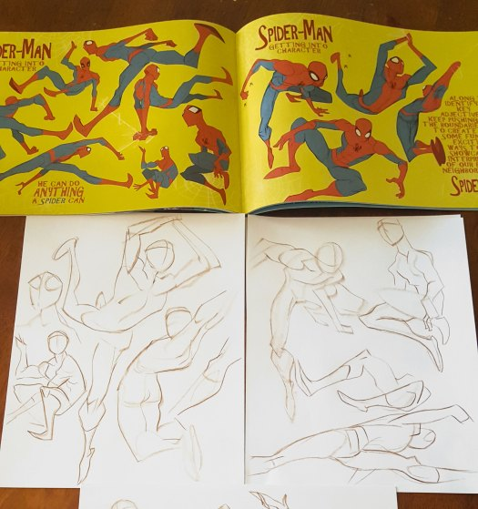 sketches of Spider-Man