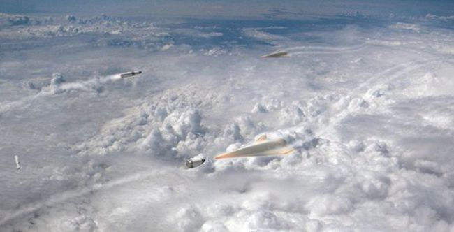 Artist's concept of DARPA's Glide Breaker anti-hypersonic-weapon system.