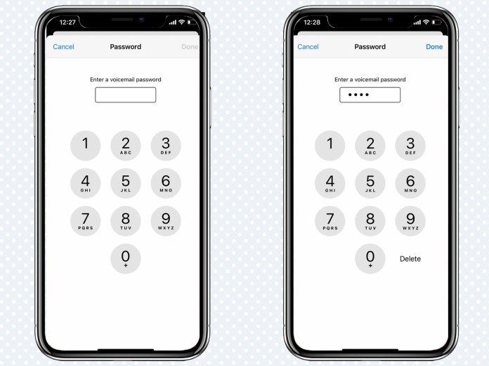 how to setup voicemail create password