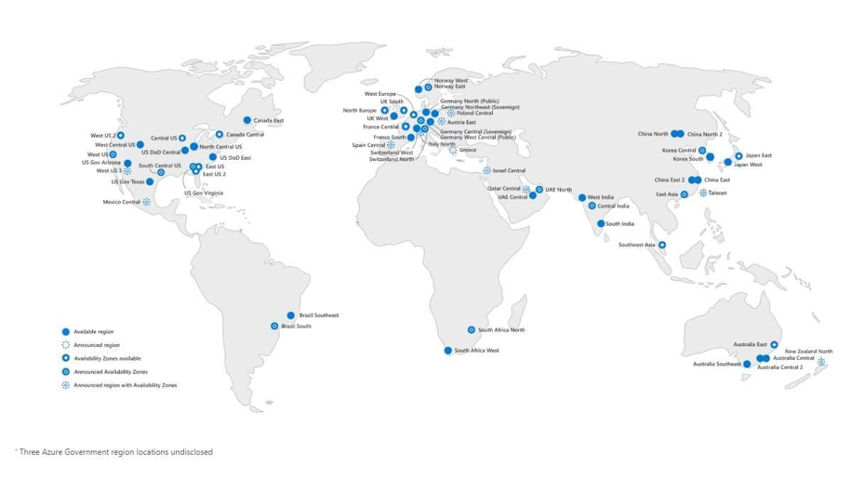 Microsoft Azure's global data center network mapped