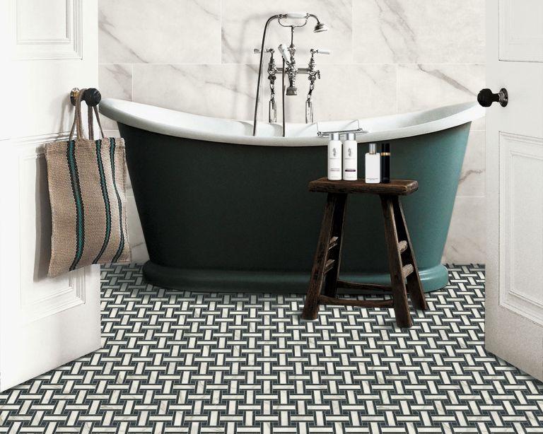 small bathroom flooring ideas from
