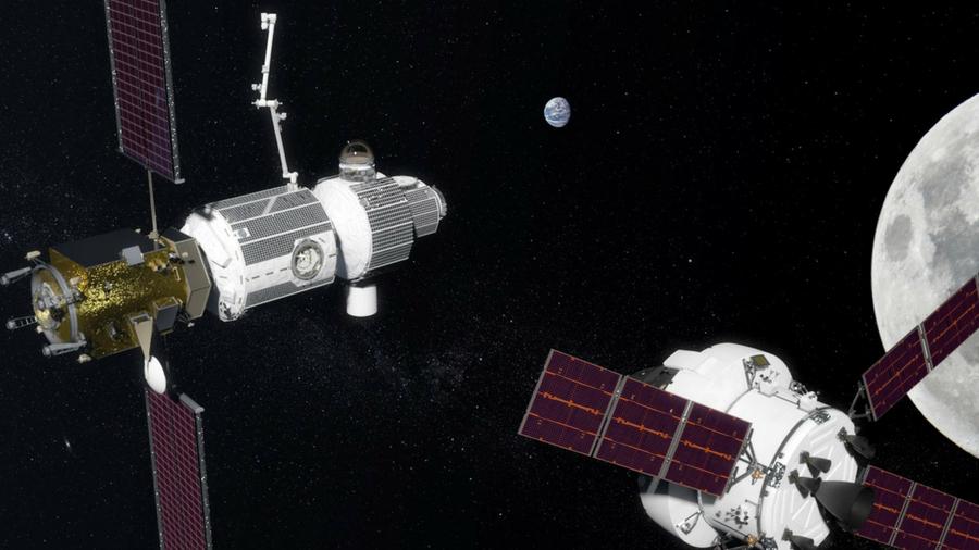 Concept image of Lunar Orbital Platform-Gateway