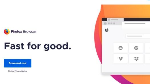 best web browsers: Firefox quantum