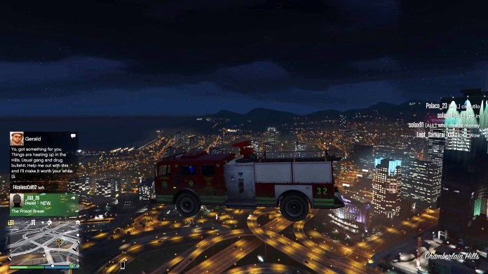 Look, a flying fire engine