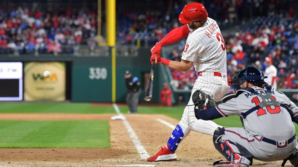 Bryce Harper for Phillies on ESPN+ MLB Baseball