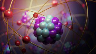 Una ilustración muestra el interior de un átomo.