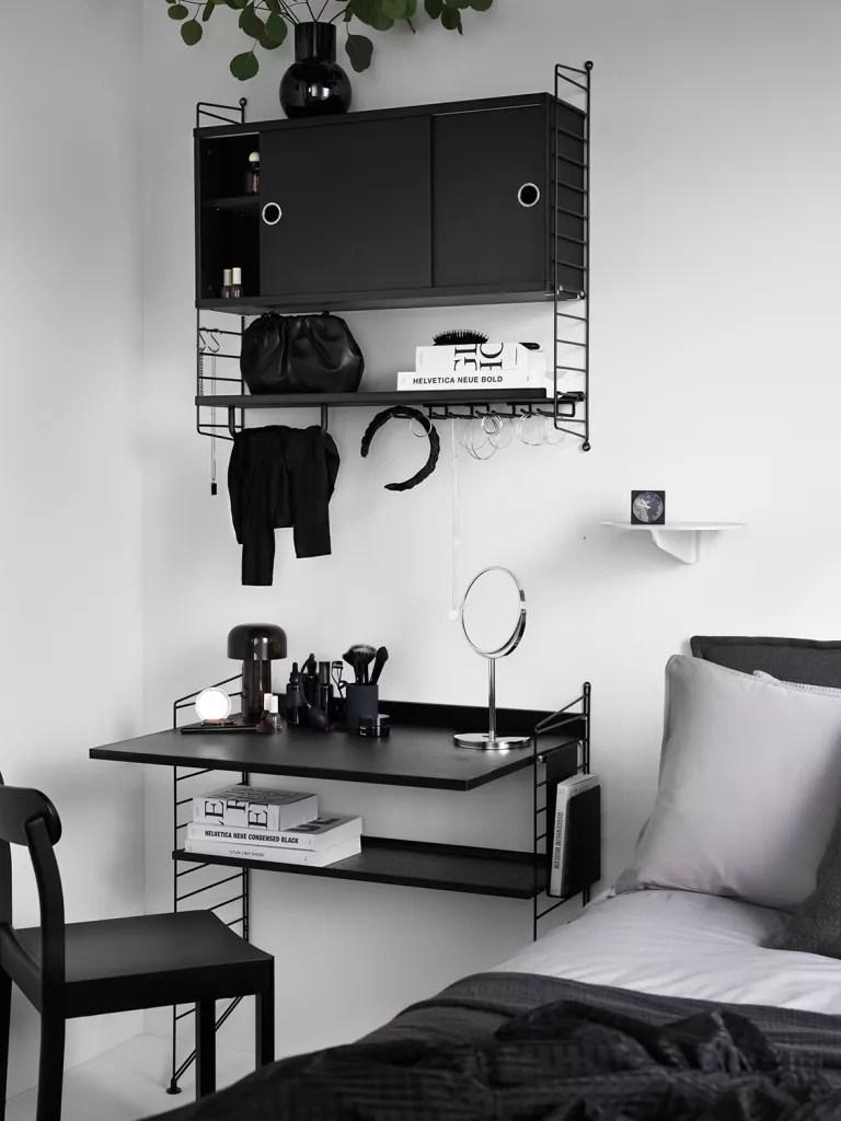 String bedroom office
