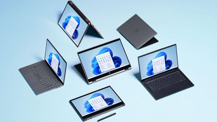 Windows 11 running on laptops