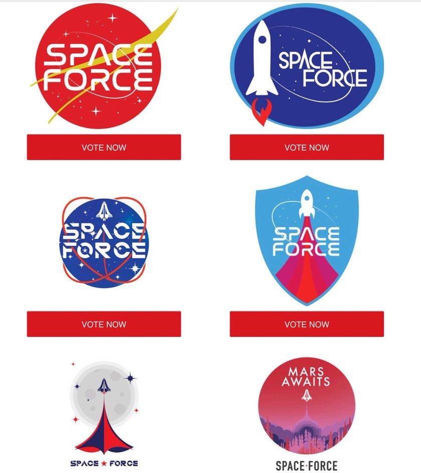 stHcmEsxz2hyUV9z76SkSL Trump supporters to vote on Space Force logo Random
