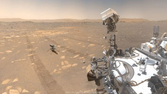 These selfies of NASA's Mars helicopter with the Perseverance rover are simply amazing
