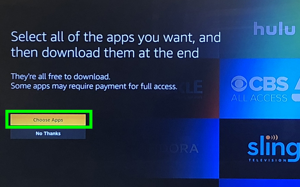 how to use fire stick - choose apps
