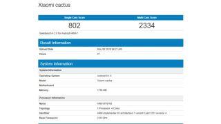 Xiaomi Cactus on Geekbench