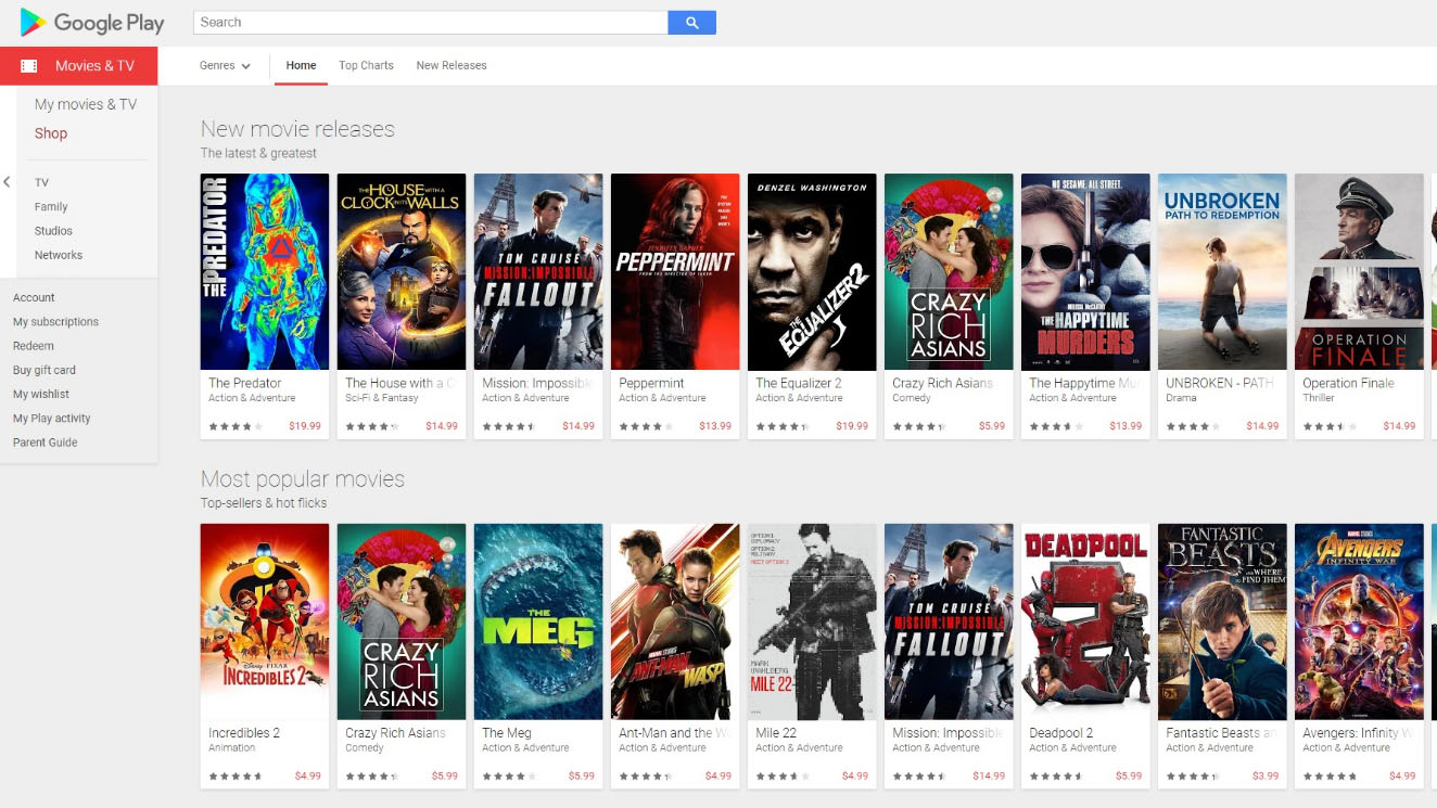 Best Roku channels: Google Play TV and Movies