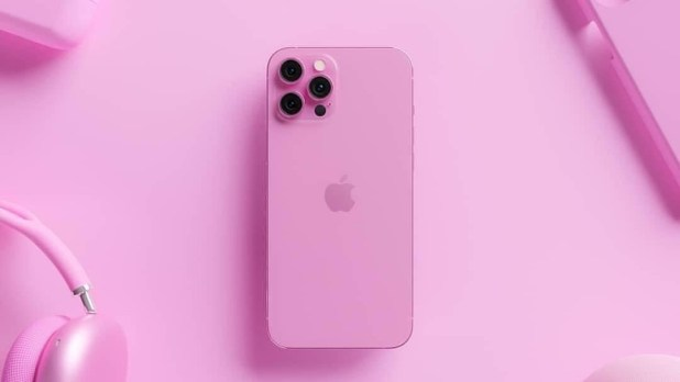 Artists 3D render of a pink iPhone