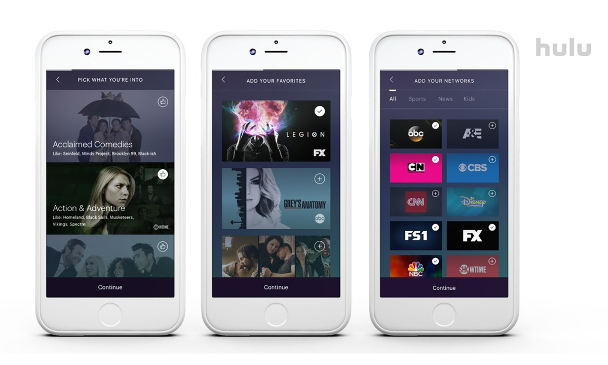 Hulu with live TV review phone app Credit: Hulu