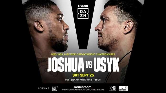 DAZN poster for Joshua vs. Usyk