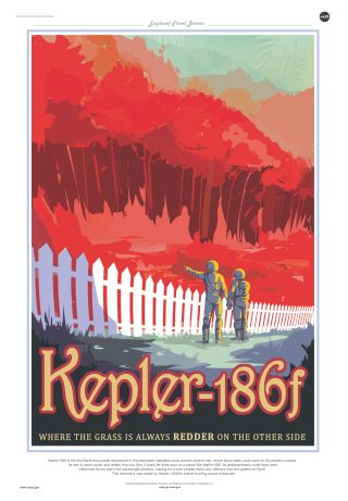 Retro NASA Travel Posters Invite You to Real Alien Worlds