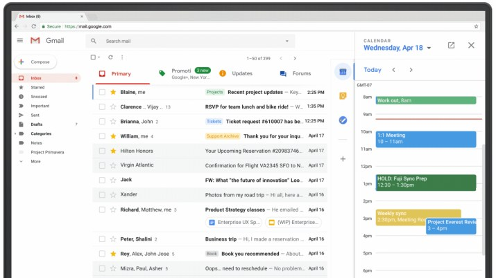 Gmail side panel