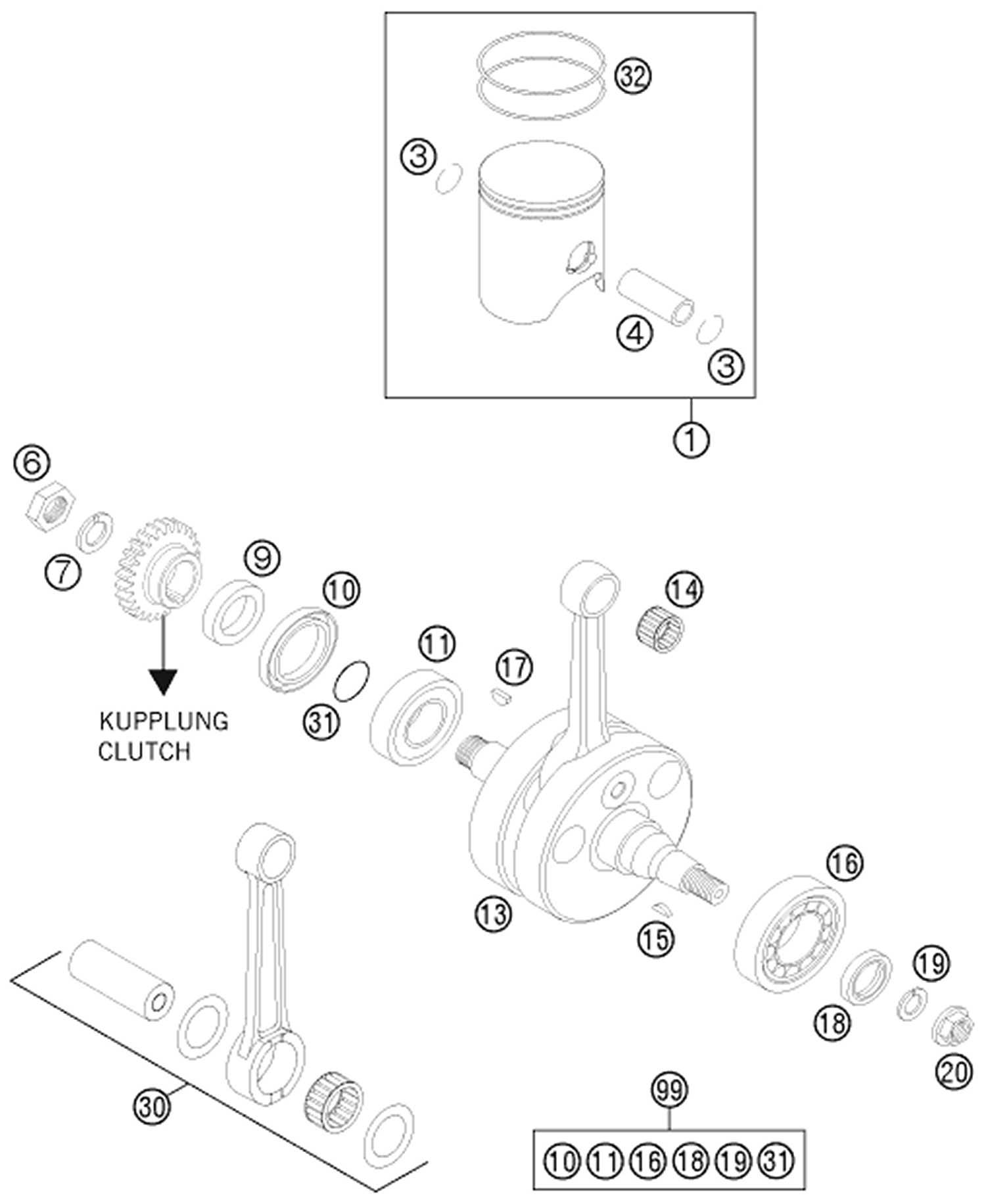 Crankshaft piston there are 21 products