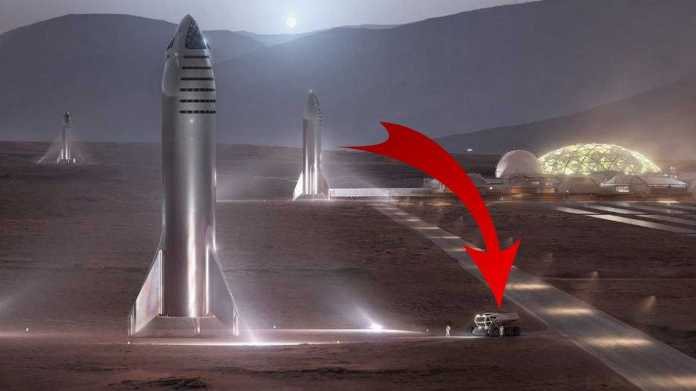 Tesla Truck On Mars