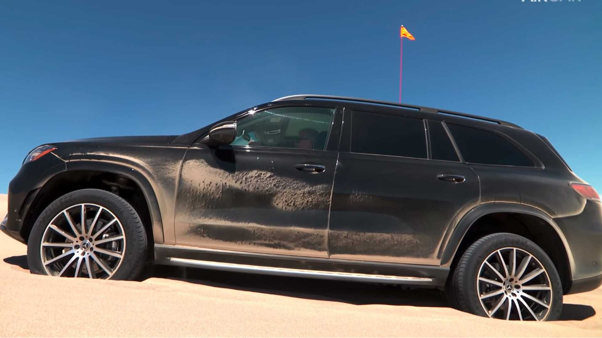 Watch The New Mercedes Benz Gls Bounce Itself Out Of A Sand Trap