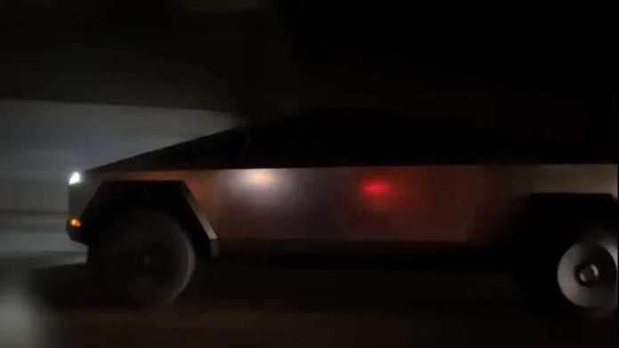 Tesla Cybertruck On Highway