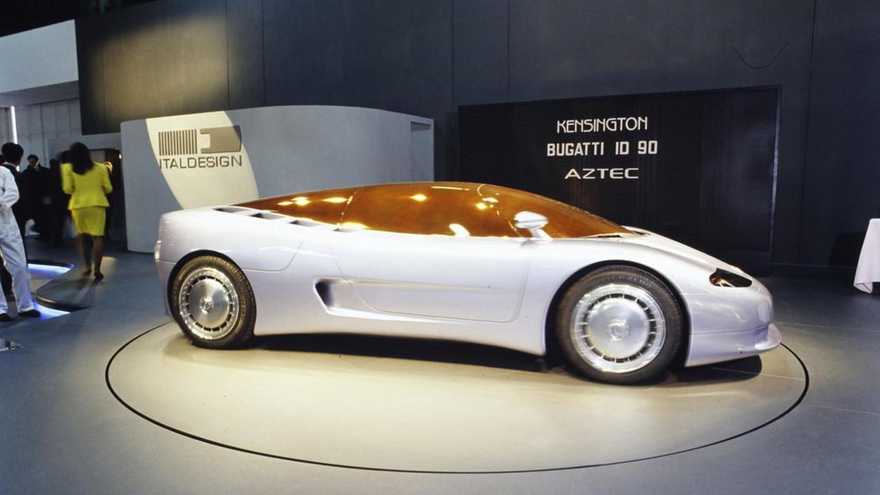 This photograph originates from a press photo archive. Bugatti ID 90 And EB 112, EB 118, EB 218: Concept We Forgot