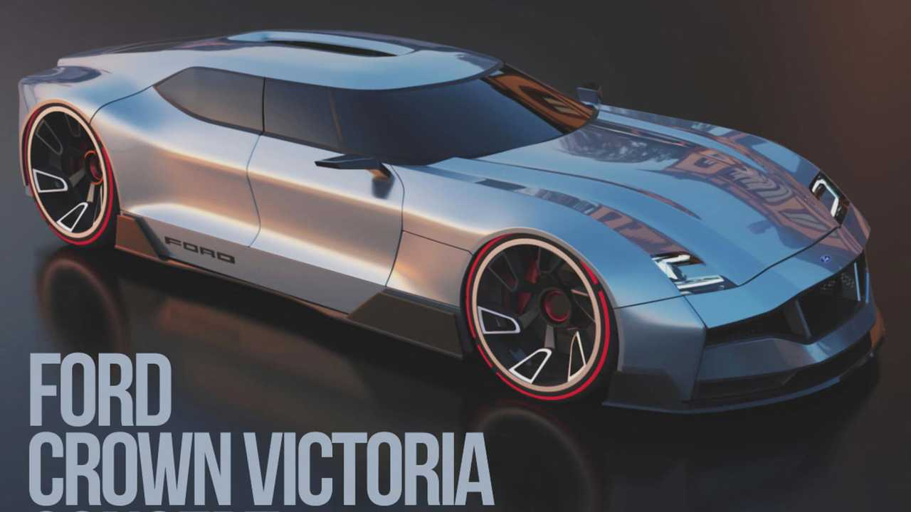 Ford Crown Victoria Concept Rendered As Future Four Door Coupe