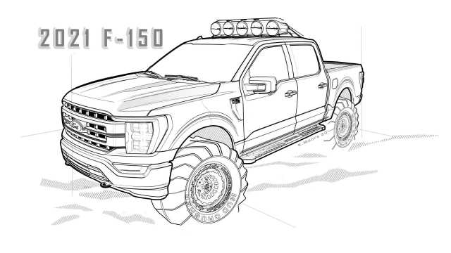 Blue Oval Releases 9 Ford Bronco and F-9 Coloring Pages For Kids