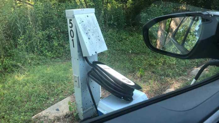 Testing RV Park Charging Near Cabin