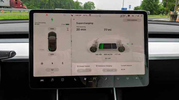 Tesla Model 3 center screen