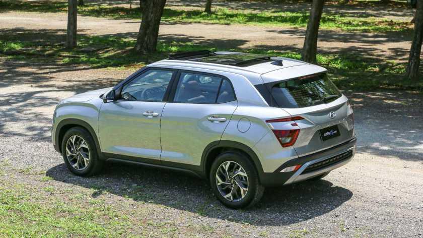 Rear of Hyundai Creta Platinum 1.0T 2022